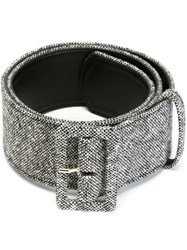 Stella Mccartney 'Metallic Brocade' Belt Black