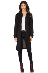 G Star Minor Long Trench Coat Black