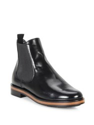 Giorgio Armani Leather Chelsea Boots Black