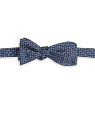 Brooks Brothers Dotted Silk Bow Tie Blue