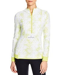 Adidas By Stella Mccartney Essentials Hooded Pullover White Lime Green