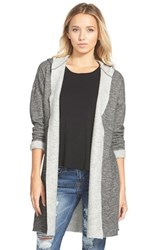 Junior Women's Sun And Shadow Hooded Fleece Cardigan