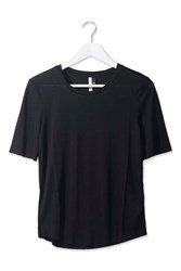 Raw Edge Tee By Boutique Black