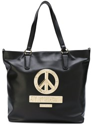 Love Moschino Peace Patch Tote Black