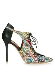Malone Souliers Montana Snakeskin And Leather Pumps Green Multi