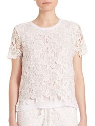 Generation Love Regular Fit Alexis Lace Tee White