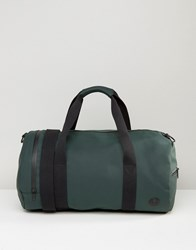 Fred Perry Matte Barrel Bag In Green Green