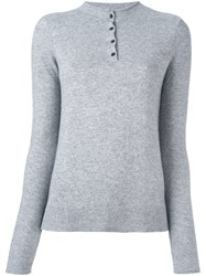 Rag And Bone Jean Buttoned Collar Pullover Grey