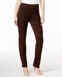 Charter Club Tummy Control Ponte Leggings Only At Macy's Rich Truffle