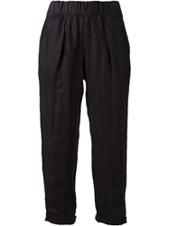 Raquel Allegra Cropped Trousers Black