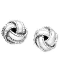 Giani Bernini Sterling Silver Earrings Small Love Knot Stud Earrings