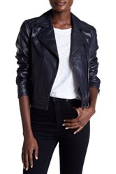 Rag And Bone Genuine Leather Chrystie Jacket Multi