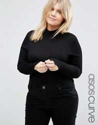 Asos Curve Jumper With Turtle Neck Black