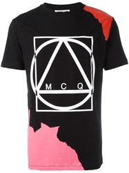 Mcq By Alexander Mcqueen Abstract Glyph Icon Print Black