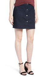 Hinge Women's Snap Front Denim Miniskirt