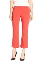 Halogenr Women's Halogen 'Taylor' Crop Flare Leg Pants Red Pepper