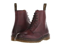 Dr. Martens Pascal 8 Eye Boot Cherry Red Temperley Men's Lace Up Boots Brown