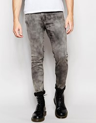 Cheap Monday Jeans Tight Stretch Skinny Fit Night Storm Acid Wash Night Storm Blue