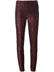 A.F.Vandevorst 'Piano' Skinny Trousers Red