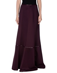 Pf Paola Frani Long Skirts Maroon