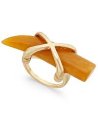 Macy's Gold Tone Large Horn Crisscross Statement Ring