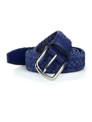 Tod's Braided Leather Belt Bright Blue