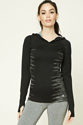 Forever 21 Active Seamless Knit Hoodie Black Charcoal