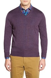 Men's Robert Talbott 'Pasadera' Wool And Silk Blend V Neck Sweater