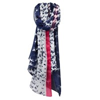 Joules Wensley Galloping Horse Print Scarf Navy White