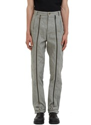 J.W.Anderson Mulit Zipped Denim Pants Grey