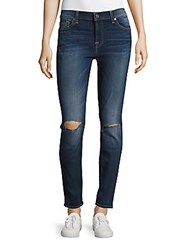 7 For All Mankind Whiskered Ankle Length Jeans Blue