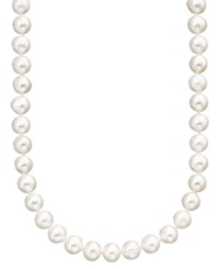 Belle De Mer Pearl Necklace 18' 14K Gold Cultured Freshwater Pearl Strand 6 7Mm