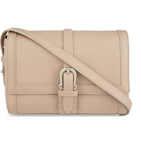 Aspinal Of London Buckle Mini Leather Shoulder Bag Nude