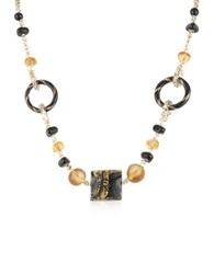 Antica Murrina Veneziana Bolero Murano Glass Choker Necklace Black