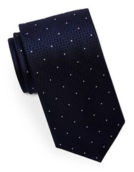 Hugo Mixed Pattern Silk Tie Navy