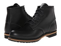 Red Wing Shoes Beckman 6 Round Toe Black Featherstone Men's Lace Up Boots