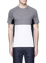 Topman Mesh Panel Jersey T Shirt Multi Colour