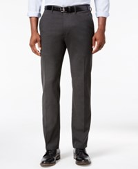 Kenneth Cole Reaction Men's Stretch Athleisure Slim Fit Dress Pants Charcoal