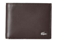 Lacoste Fg Small Billfold Dark Brown Bill Fold Wallet