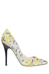 Giamba Flower Printed Pumps Yellow
