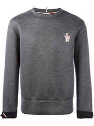 Moncler Grenoble Crew Neck Sweatshirt Grey