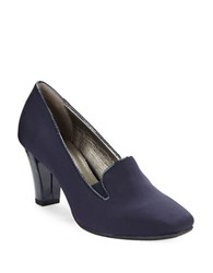 Bandolino Vavara Loafer Pumps Navy Blue