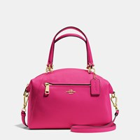 Coach Prairie Satchel In Pebble Leather Light Gold Cerise