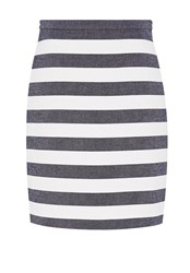 Hallhuber Block Stripe Skirt Midnight