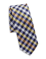 Original Penguin Silk Plaid Tie Yellow