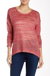 Kut From The Kloth Nevaeh Open Knit Scoop Sweater Pink