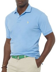 Polo Big And Tall Classic Fit Mesh Shirt Blue