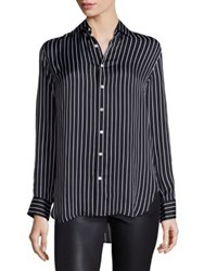 Polo Ralph Lauren Striped Silk Shirt Black White