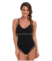 Tyr Sonoma V Neck Open Back One Piece Black Women's Swimsuits One Piece