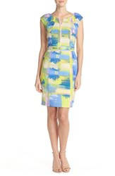 Women's Ellen Tracy Graphic Scuba Sheath Dress